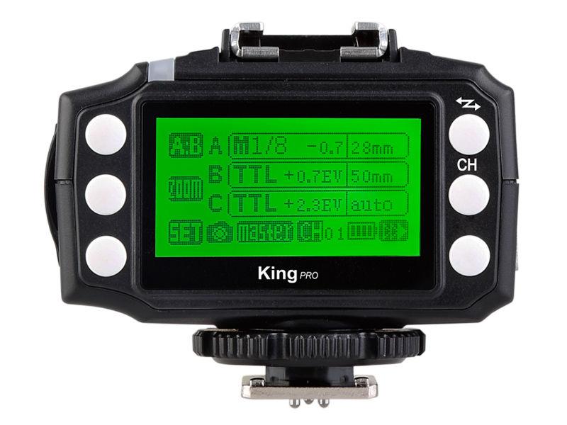 Vorderseite und LCD Display vom Pixel King Pro